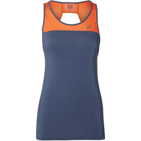 asics Loose Strappy Tank Donna, grand shark/nova orange